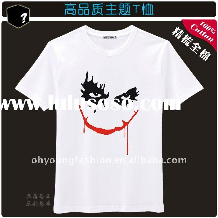 2012 viyate free design summer o-neck short sleeve printed cheap 100 cotton jersey casual high quali