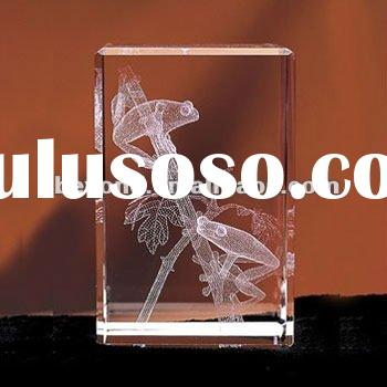 3d laser crystal as gifts ,souvenir and trophy