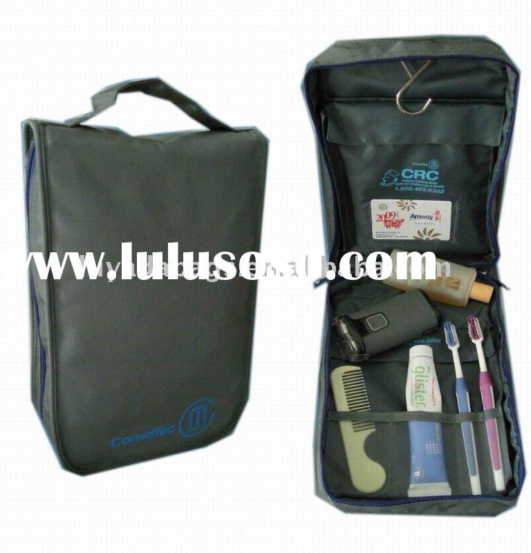 Black Business Travel Cosmetic Bags