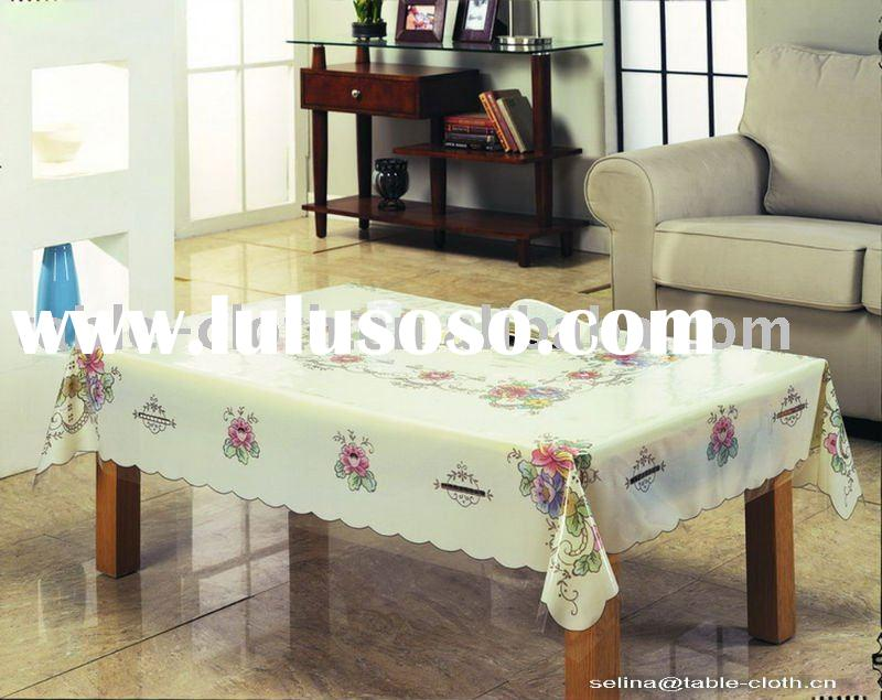 Coffee table cloth, pvc transparent tablecloth,printed plastic table cloth,table covers,table cloths