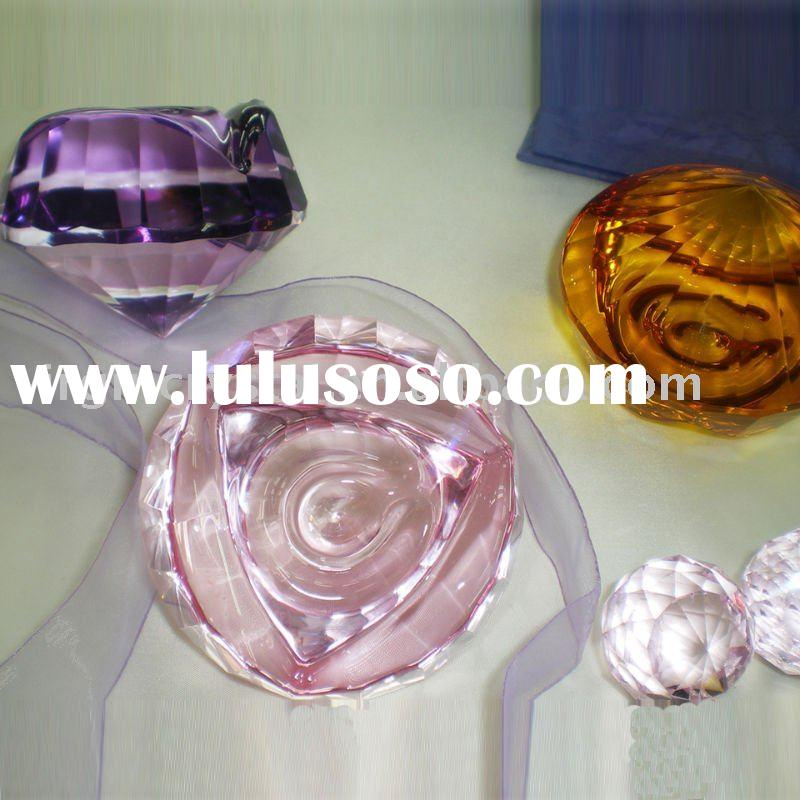 Crystal Rose Flower Diamond Paperweight Gifts