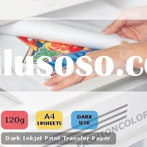 Inkjet T-shirt Transfer Paper Dark use