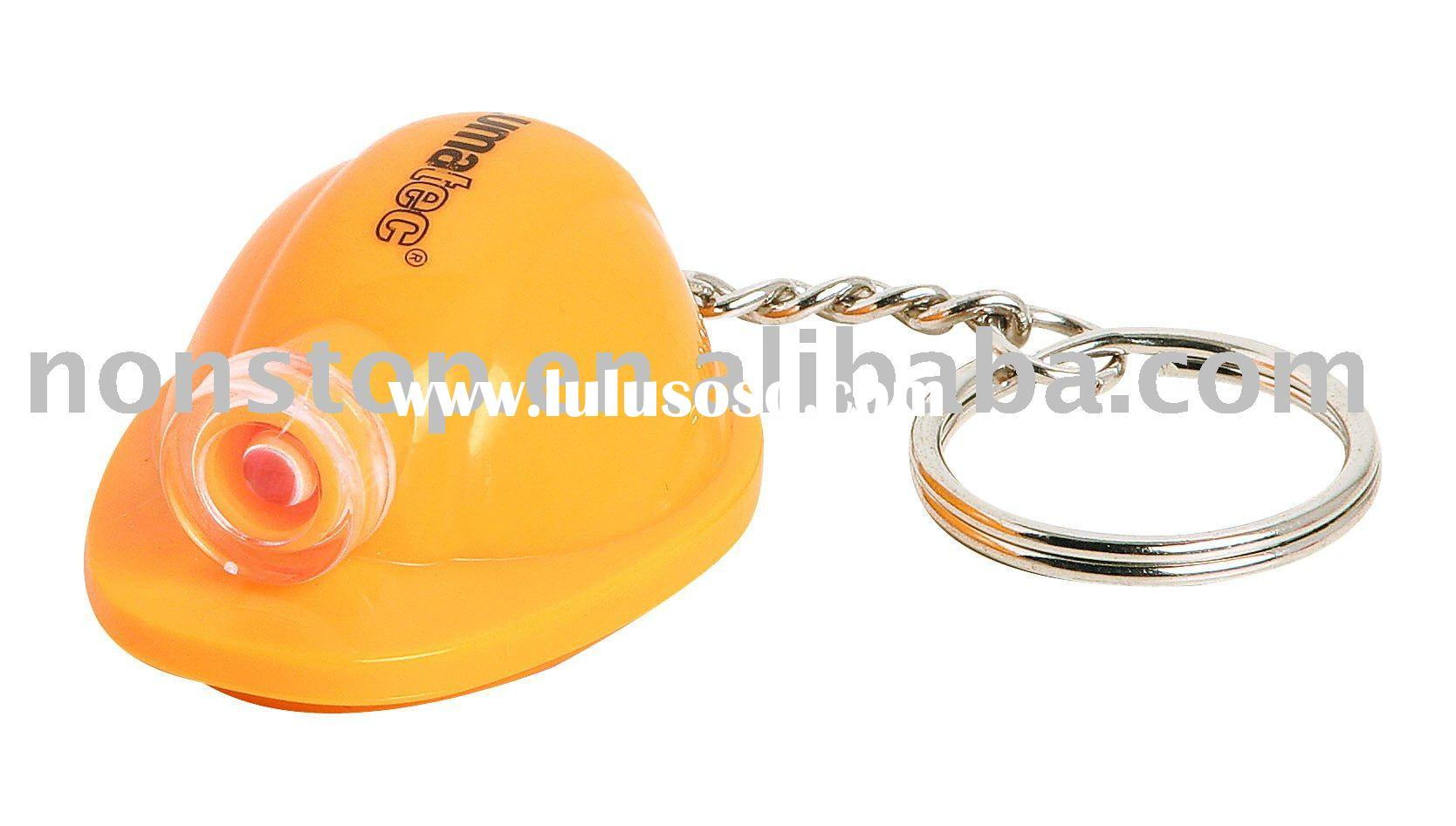 Mini Hard Hat Keychain/Keyring/key chain/key ring Light, Logo imprint Helmet Keyholder,Cap Keyring