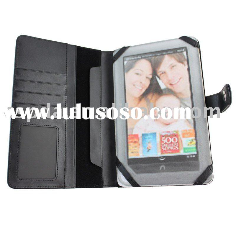 Newest Black leather pouch case cover for Nook Color
