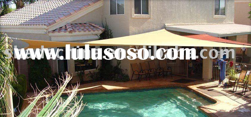 Swimming pool shade cloth for outdoor
