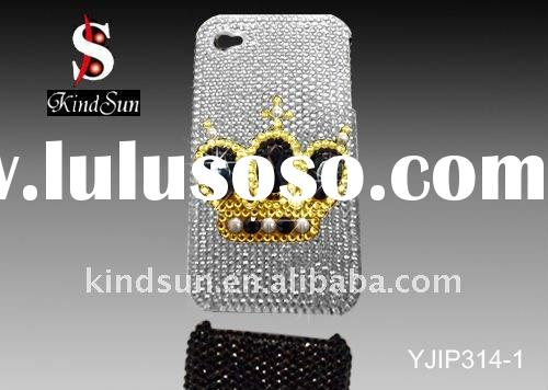 Wonderful Crown Design Case,For iPhone 4 Case,With Crystal Beads