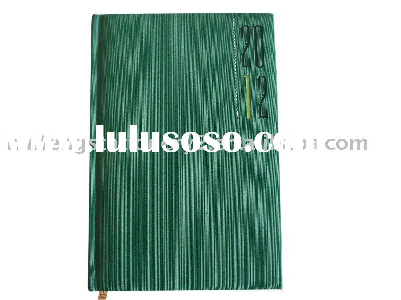 a4 a5 a6 pu cover agenda diary with magnet closure pen holder company logo embossed or foil-printed