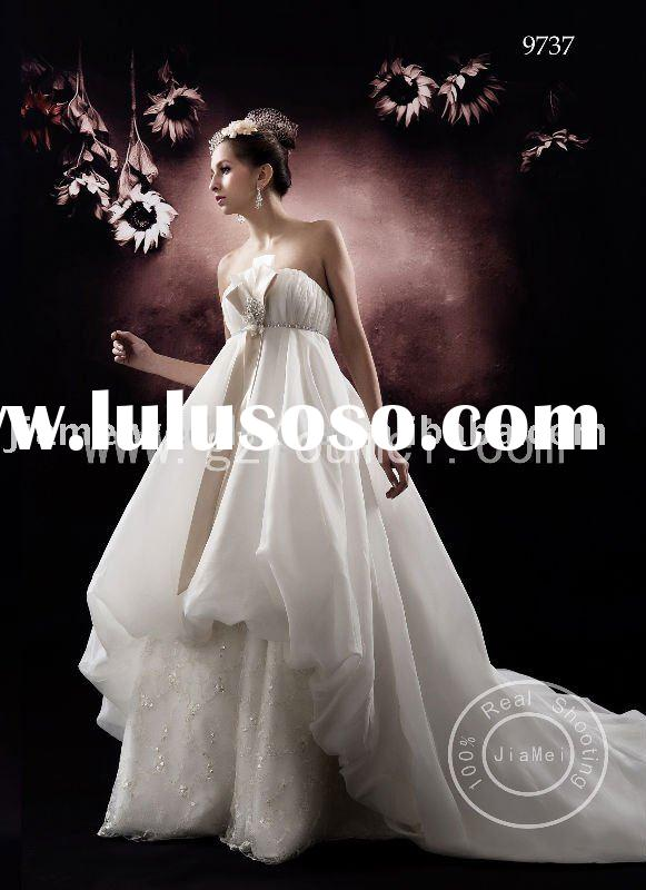 chantilly lace Wedding dress evening dress two color organza sweetheart
