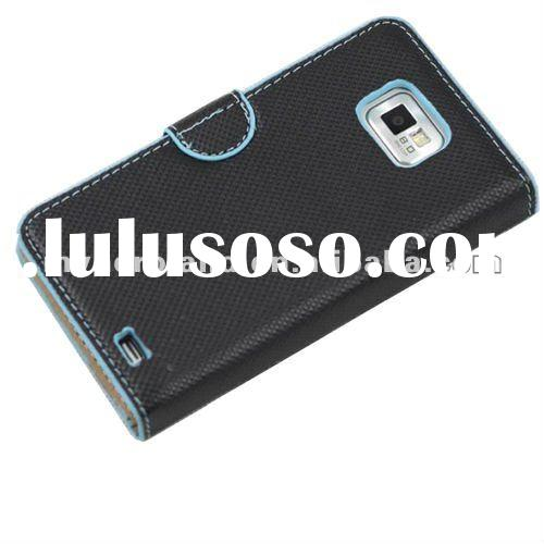 for Samsung Galaxy S2 Leather case with Card Bag,OEM Welcome