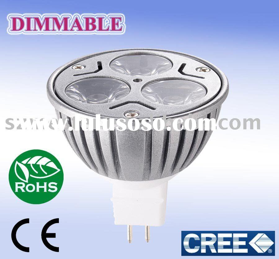 led bulb dimmable mr16 CREE chip 5Watt 4Watt UL listed