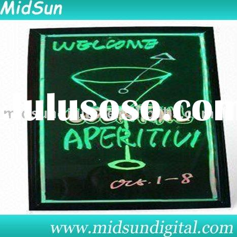 led light up board,magic led writing menu board,led board write