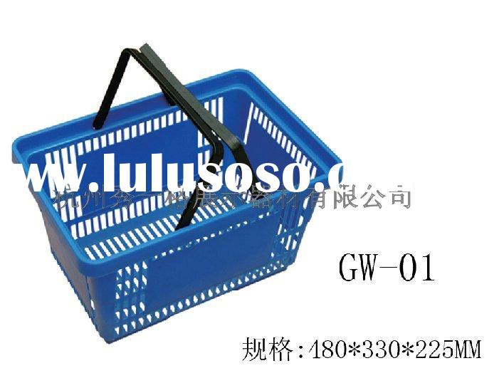 plastic market shopping basket