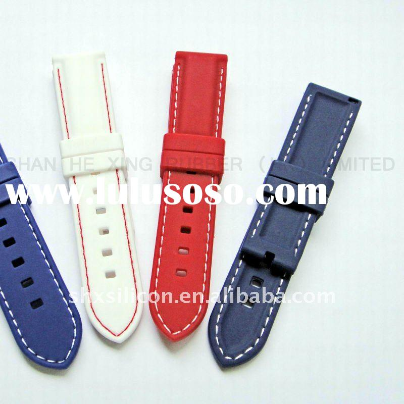 silicone men watch band parts # 040