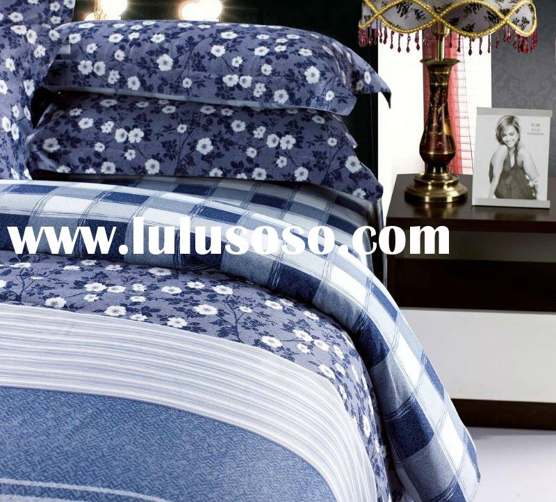 100% cotton printed bed sheets set home textile