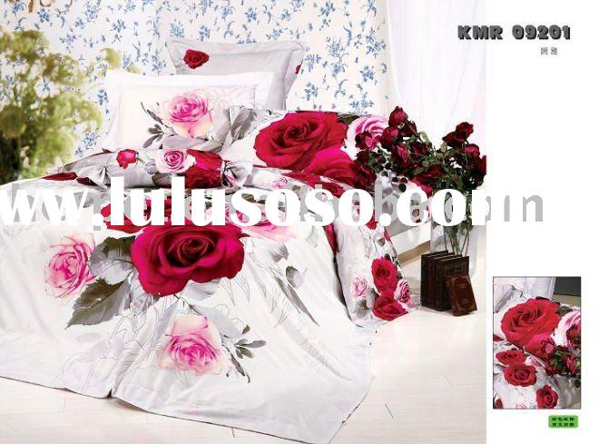 100% cotton reactive print duvet cover set, Hot sell design