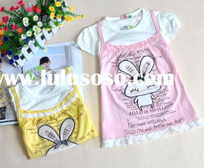 100% organic cotton/ 100% bamboo fiber soft handfeel/ eco-friendly lovely baby girl t-shirt/dress/cl