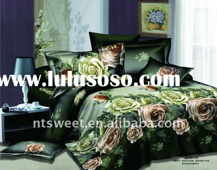 100% polyester reactive print bed sheet set/bed set/bedding sheet set/duvet cover set