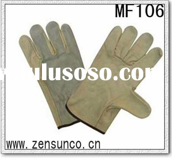 10 Inch Length Cow Grain Leather Driver Glove