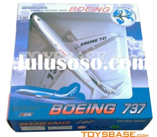 1:300 Pull back die cast toy plane (BOEING 737) PPC98402