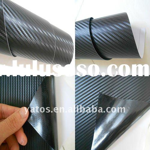 1.52M Width Black Carbon fiber Vinyl Rolls With Air Free Bubbles