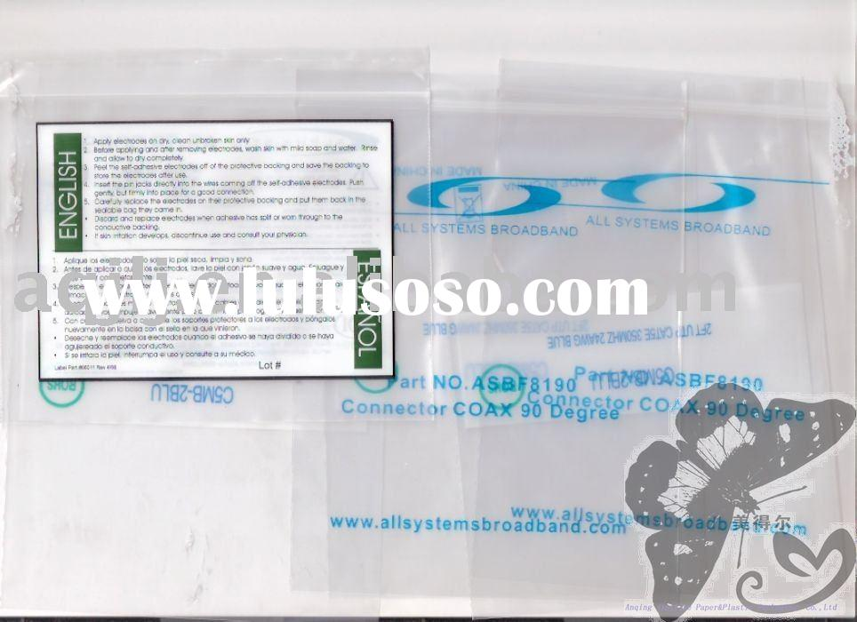 2010 promotional high quality various Plastic Zip-lock bag with printing