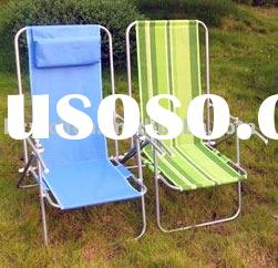 2011 fashionable adjustable folding beach chair with low-seat and high-back