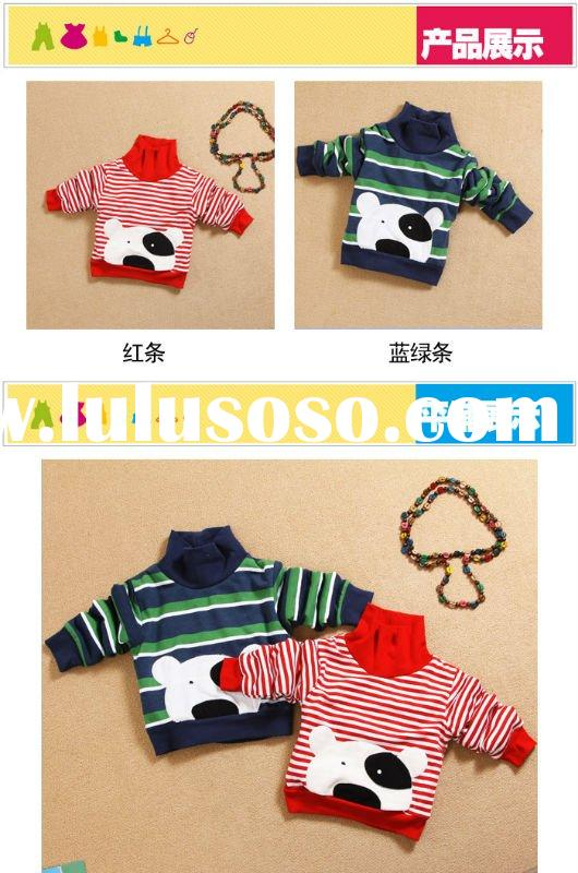 2011 hot sale for winter turtleneck shirt child clothing baby wear