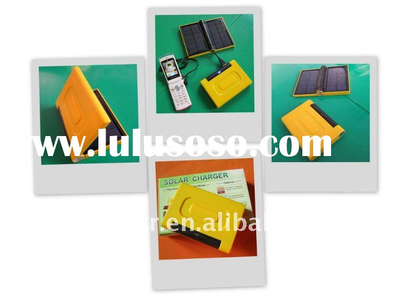 2011 new design portable mini rechargeable solar phone charger for mobile phone with CE,ROSH,FCC iph