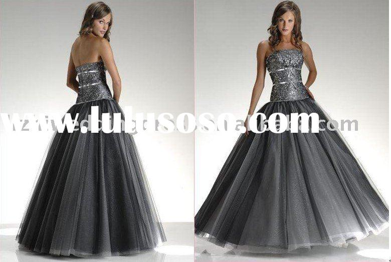 2011 sparkle strapless sequined corset ball gown skirt prom dresses