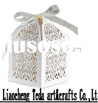 2011white filigree laser cut favor cupcake box for wedding/dating/party/birthday ,use for candy/choc