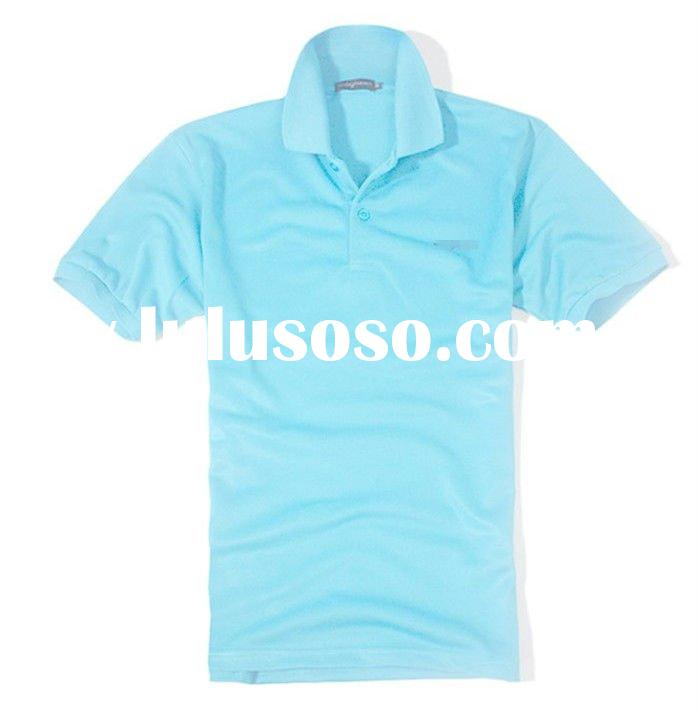2012 OEM customized men's cotton/polyester pique Blank plain dyed short sleeved casual and u