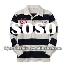 2012 Spring classic preppy style stripe top quality polo t shirt with OEM service 073