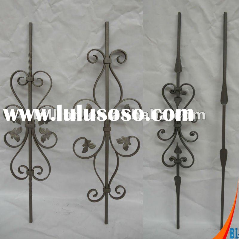 2012 china manufacturer factory hebei hand hammered wrought iron balusters for staircase railing,fen