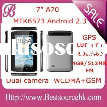 2012 hot sale 7 inch phone Tablet PC Android 2.3 / phone tablet pc wifi+3G dual SIM+GPS+TV+FM+blueto