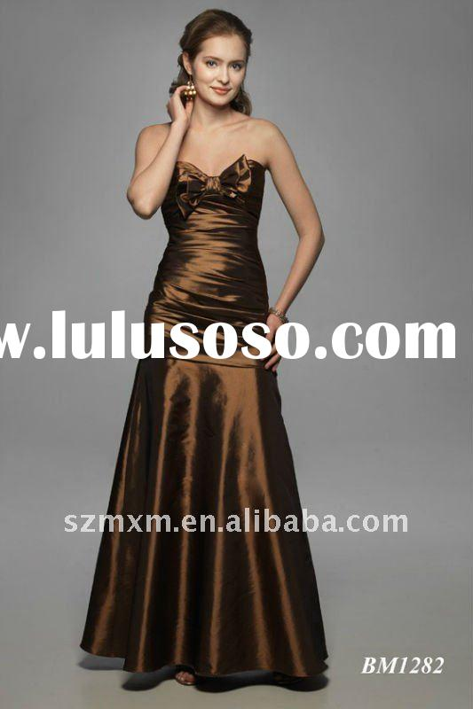 2012 low price discount simple a-line sweetheart sleeveless full length prom/bridesmaid/evening dres
