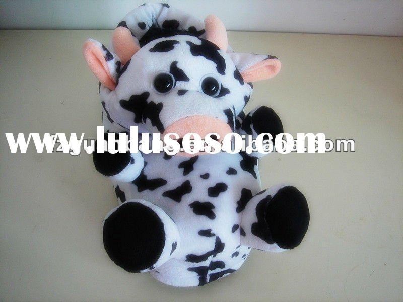 2012 milch cowdesign kid animal shoes indoor slippers