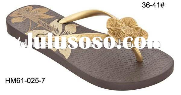 2012 new ladies casual flip flop slippers for Panama