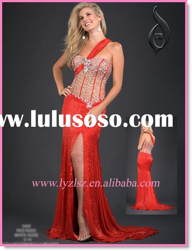 2012 new style LF0209 Gorgeous One-shoulder Prom Dress