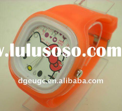 2012 silicone jelly watch bracelet