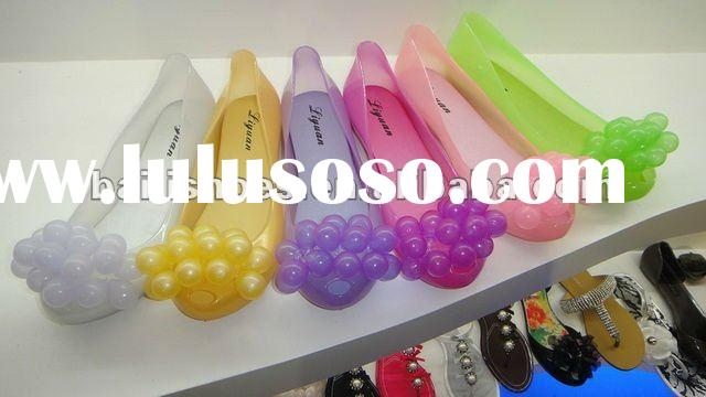 2012 summer beach slippers ;beautiful girls pvc beach sandals;NEW GIRL JELLY BEACH SANDAL; PVC SUMME