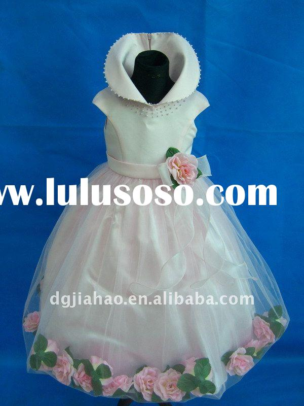2012self-designed long princess party dress for kids