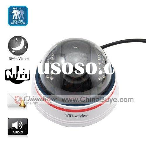 22 LED Wireless Dome WIFI IP Camera with Night Vision + Motion Sensor + Email Alter