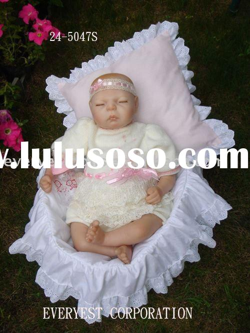 24 inch silicone vinyl baby doll