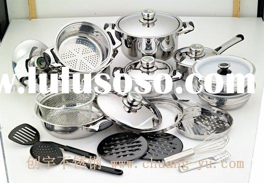 27 PCS Stainless Steel Cookware Set