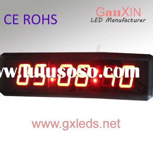 2.3inch 6digits red color indoor high quality small mini digital clock for car