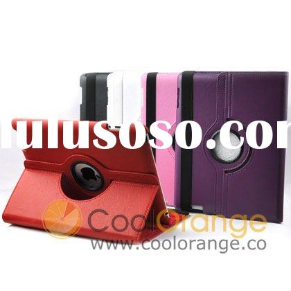 360 Degree Rotatable Leather Case for iPad 2