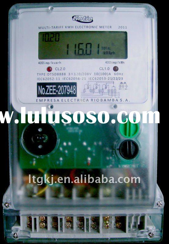 3 phase 4 wire digital multifunction electrical energy meter RS485