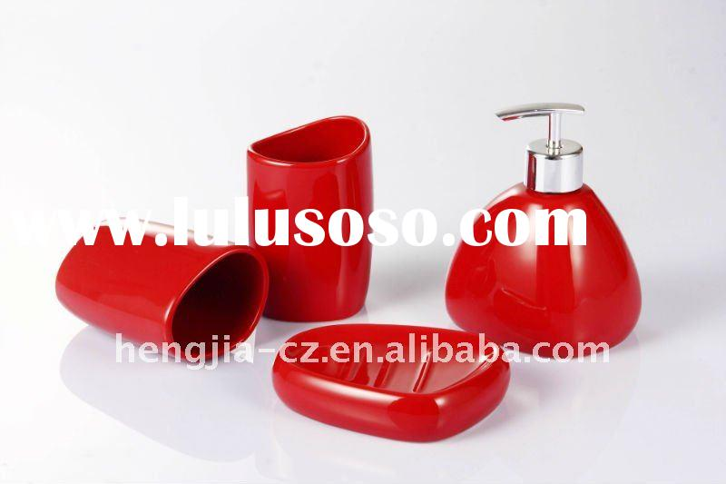 4PCS ceramic bathroom set