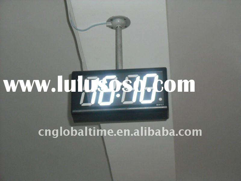 "4"" 4 digit 7 segment white led digital clock"