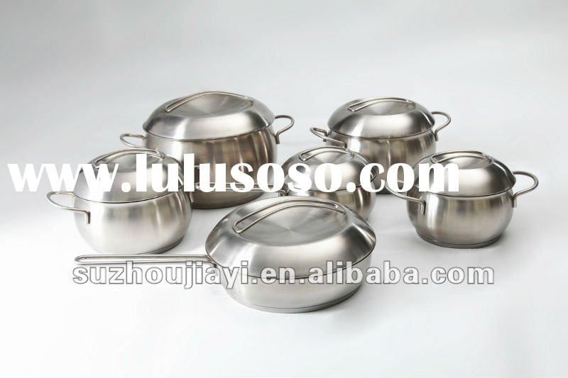 6PCS SET STAINLESS STEEL COOKWARE